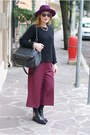 Black-ankle-boots-boots-maroon-ecua-andino-hat