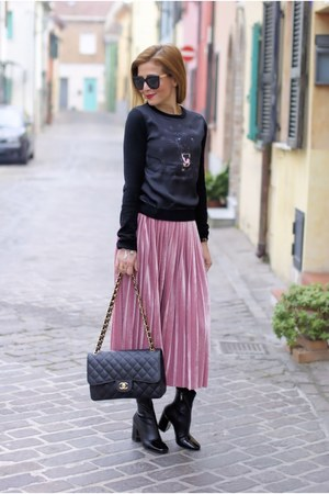 bubble gum compagnia italiana skirt - black cesare paciotti sweater