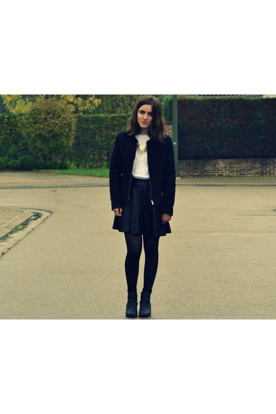 black Zara jacket - black H&M shoes