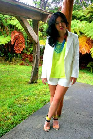 Lush top - Zara blazer - Zara shorts - Zara heels
