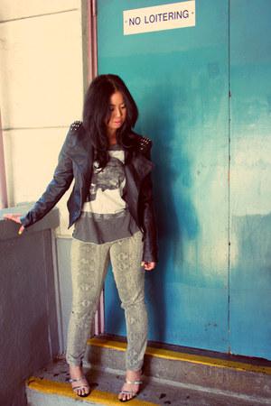 Forever 21 jacket - Zara top - Mossimo pants - Zara heels