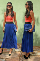 pleated skirt Haute Alternative skirt - Steve Madden shoes