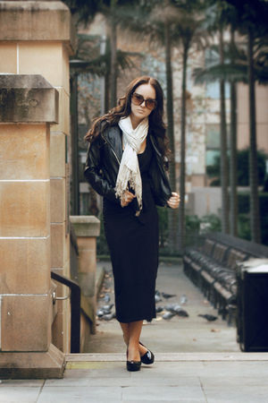 black staple dress - black Wildfire shoes - black Valley Girl jacket