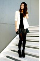 black ankle boots Forever 21 boots - white Forever 21 blazer