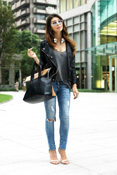 Black Faux Leather Zara Jackets, Black 31 Phillip Lim Bags