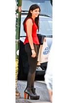 Peplum shirt - Jeffrey Campbell heels