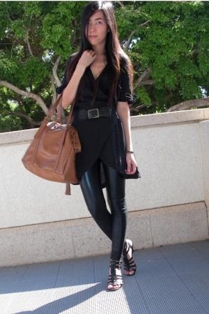 asos dress - urbanoutfitters leggings - asos accessories
