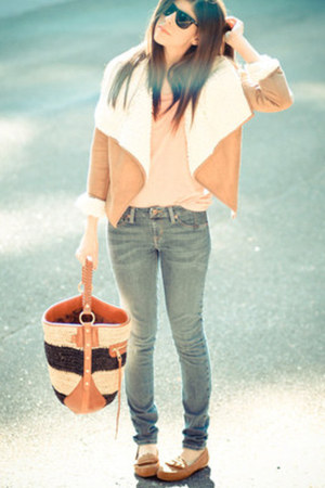 tote Rebecca Minkoff bag - skinny jeans sold design lab jeans