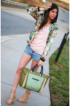 floral print Zara Trf jacket - wedges Alexander Wang shoes
