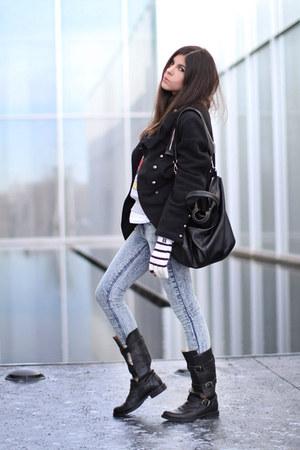 Fiorentini  Baker boots - vintage coat - BDG jeans - Forever 21 sweater