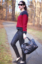 J Brand jeans - Motel sweater - balenciaga bag - sam edelman loafers