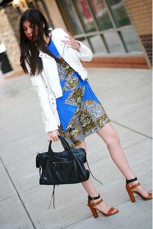 Christine Alcalay dress - Shop Goldie jacket - balenciaga bag - Zara sandals