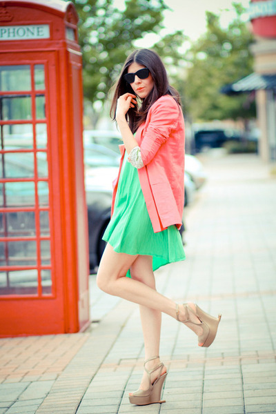 Sweetees dress - vintage blazer - Moschino wedges