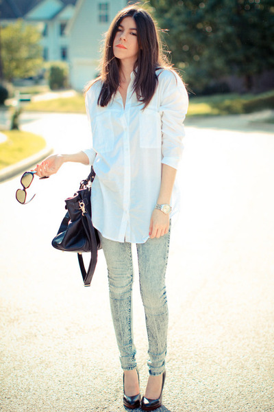 BDG jeans - dior sunglasses - asos blouse - Nine West heels
