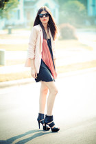 Alice Yim dress - threadsence blazer - Ray Ban sunglasses