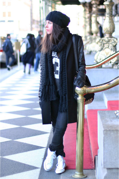 Zara coat - asos hat - belair high wildfox couture sweater - Alexander Wang bag