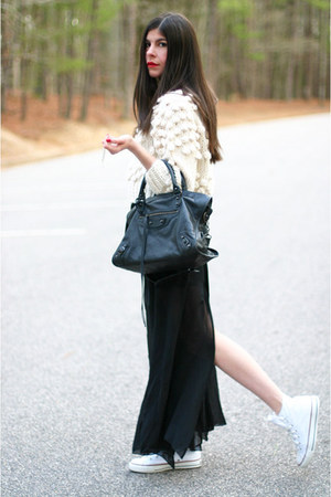 Converse sneakers - Modekungen sweater - balenciaga bag - shampalove skirt