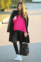 asos sweater - Zara coat - asos jeans - Alexander Wang bag - Converse sneakers