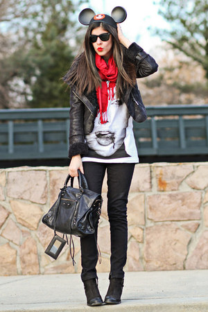 balenciaga bag - Topshop boots - Topshop jeans - romwe jacket
