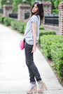 Nanda-sandals-skinny-jeans-superfine-jeans-romwe-shirt-clutch-romwe-bag