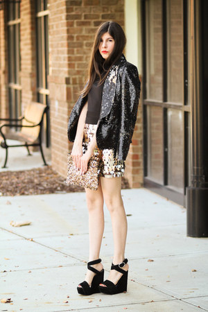 sequin Armani Exchange blazer - sequin trimmed AGAIN dress