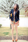H&M blazer - clutch Mar Y Sol bag - dany platform Jessica Simpson sandals
