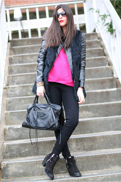 Topshop boots - Armani Exchange jacket - asos sweater