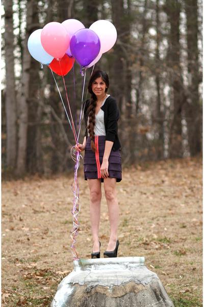purple BB Dakota skirt - gray Alexander Wang top - black Aldo shoes - black Dolc