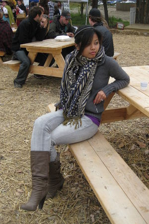 gray Old Navy sweater - scarf - Wetseal jeans - brown boots