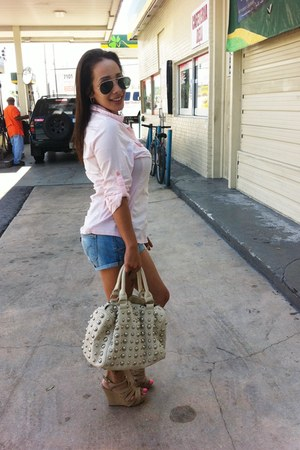 Aldo bag - Guess shorts - target Converse blouse