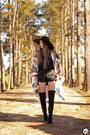 Ivory-amaro-coat-black-amaro-shorts-black-amaro-top