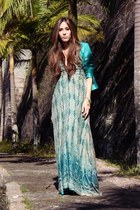 aquamarine Manhattan by Kellen dress - aquamarine Manhattan by Kellen jacket
