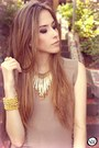Dark-khaki-renner-dress-gold-maria-cereja-acessrios-necklace