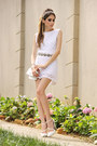 White-juliana-silveira-dress-white-asos-heels