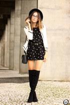 black Dafiti romper - white romwe jacket