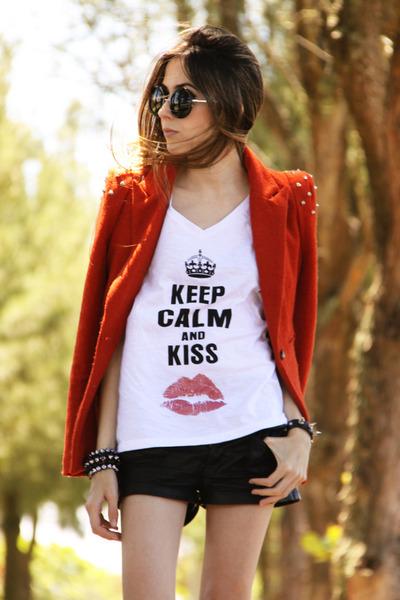 Ville Rose t-shirt - romwe blazer