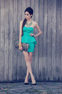 Turquoise-blue-la-bella-mafia-dress-turquoise-blue-gabriela-faraco-necklace
