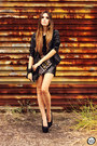 Black-luxo-rosè-jacket-black-luxo-rosè-skirt