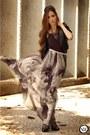 Black-romwe-skirt-silver-gabriela-faraco-necklace