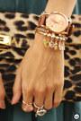 Teal-lamandine-dress-gold-marina-zardo-bracelet