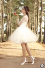 White-styligion-dress-white-space46-skirt-white-lulus-heels