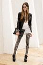 Black-minusey-jacket-black-akira-leggings-white-akira-jumper