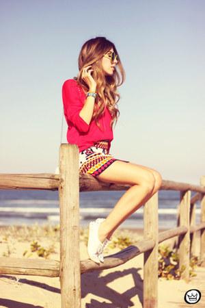 ivory Studio21 skirt - red Studio21 jumper