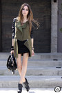 Dark-green-romwe-coat-black-romwe-bag