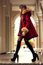 Crimson-chicwish-coat-crimson-romwe-skirt