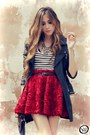 Brick-red-chicwish-skirt-black-romwe-coat