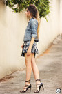 Navy-count-the-sheep-jumper-silver-33fclothing-skirt