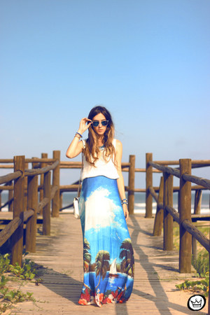 sky blue Love Luxo skirt
