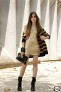 Gold-sequins-lokanda-dress-black-makenji-cardigan-charcoal-gray-jfrse-ring