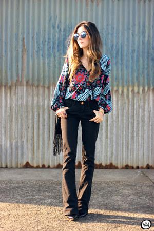 blue Anna Morena shirt - black Lunender pants